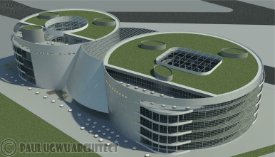 Taichung City Cultural Centre RevD 4_14 - Rendering - 3D View 4_14